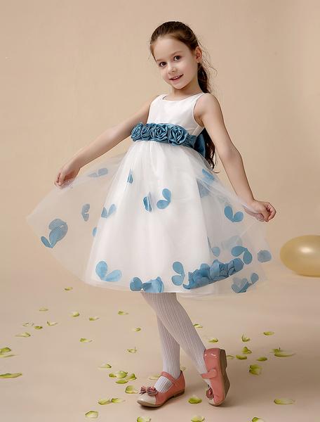 Milanoo Vestido formal para niñas de poliester con flores