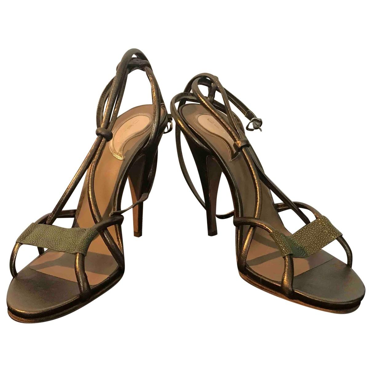 Etro - Sandales   pour femme en galuchat - metallise