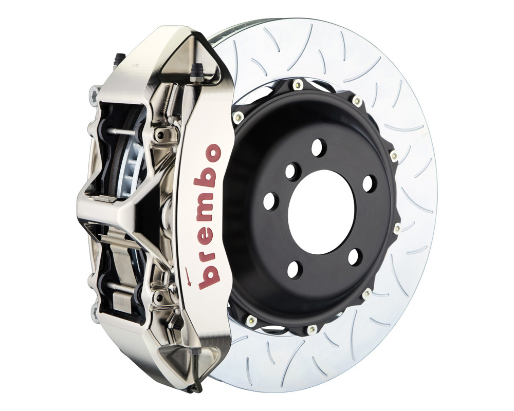 Brembo GT-R 355x32 2-Piece 6 Piston Nickel Plated Slotted Type-3 Front Big Brake Kit