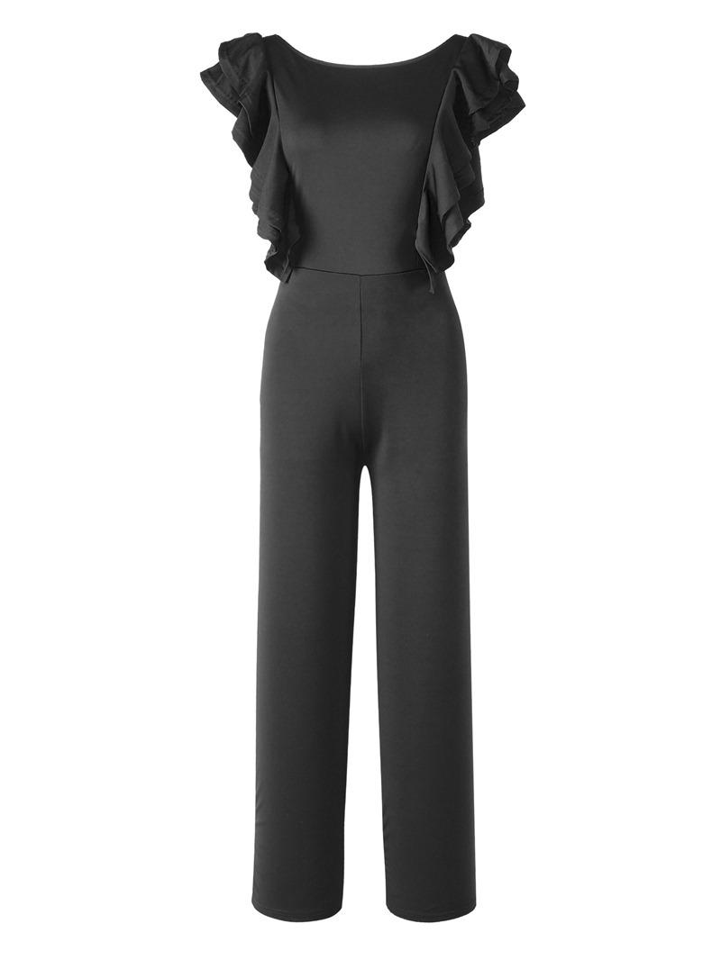 Ericdress Ruffles Plain Tunic Women's Jumpsuit