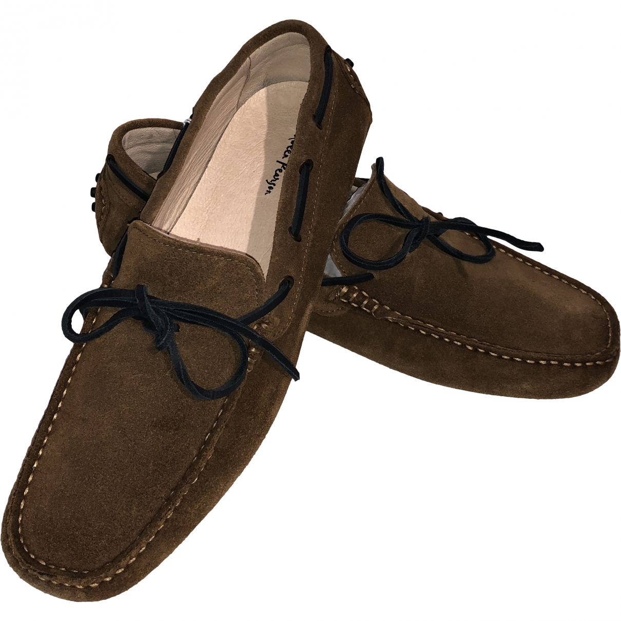 Non Signé / Unsigned \N Brown Leather Flats for Men 41 EU