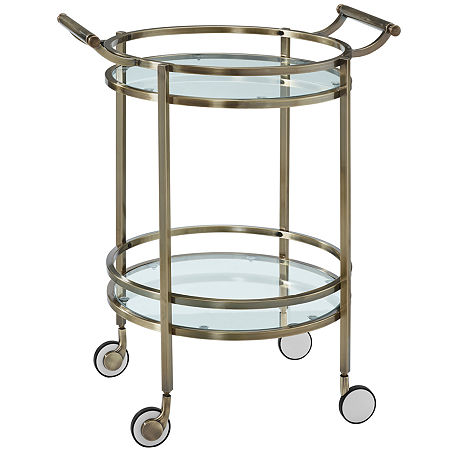 Delancey Round Serving Cart, One Size , No Color Family