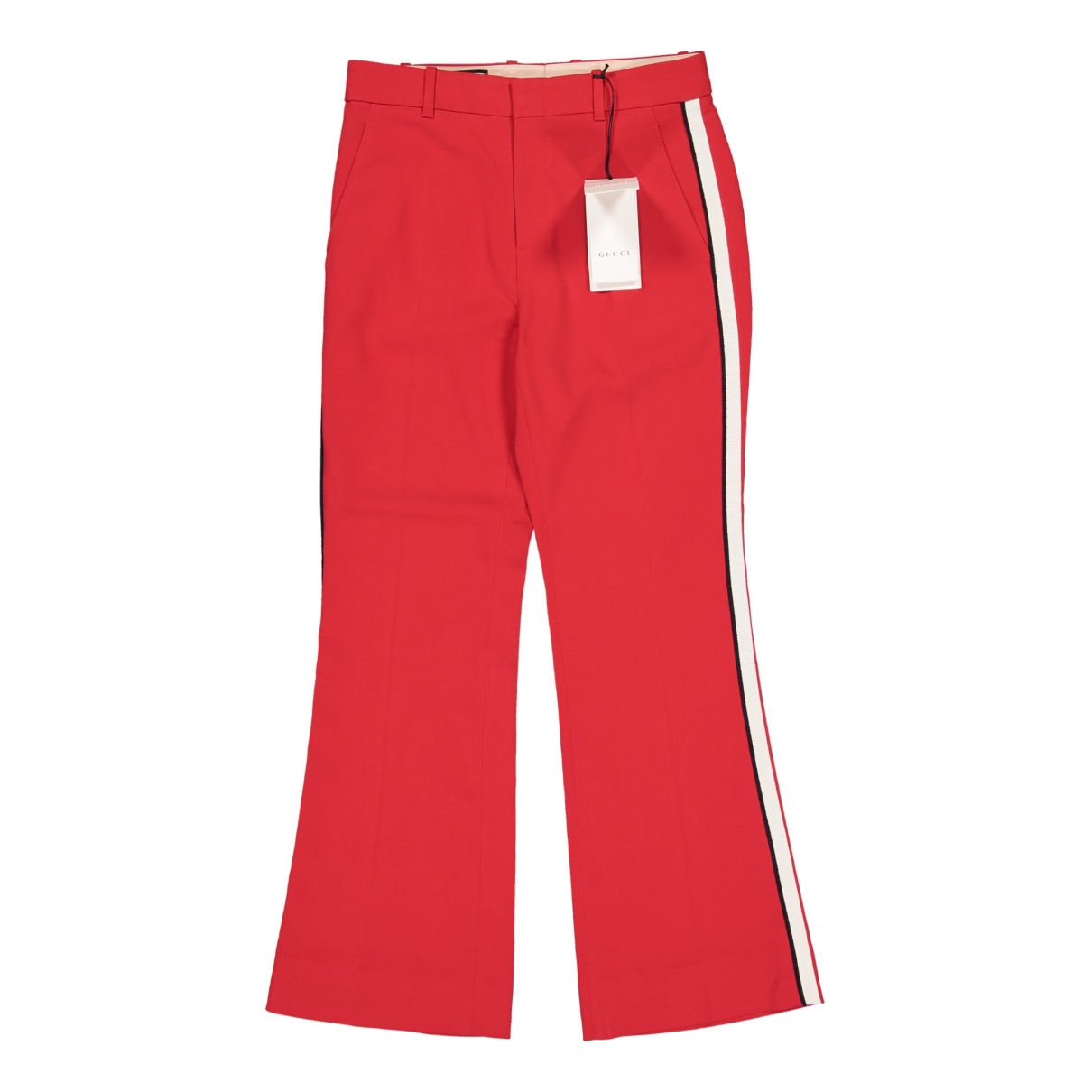 Gucci \N Red Trousers for Women 44 IT