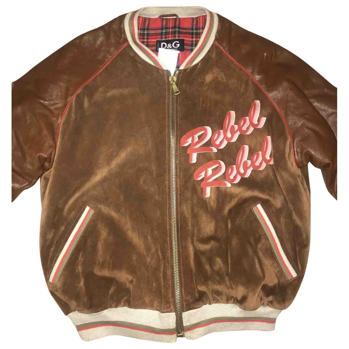 D&g \N Brown Leather jacket  for Men M International