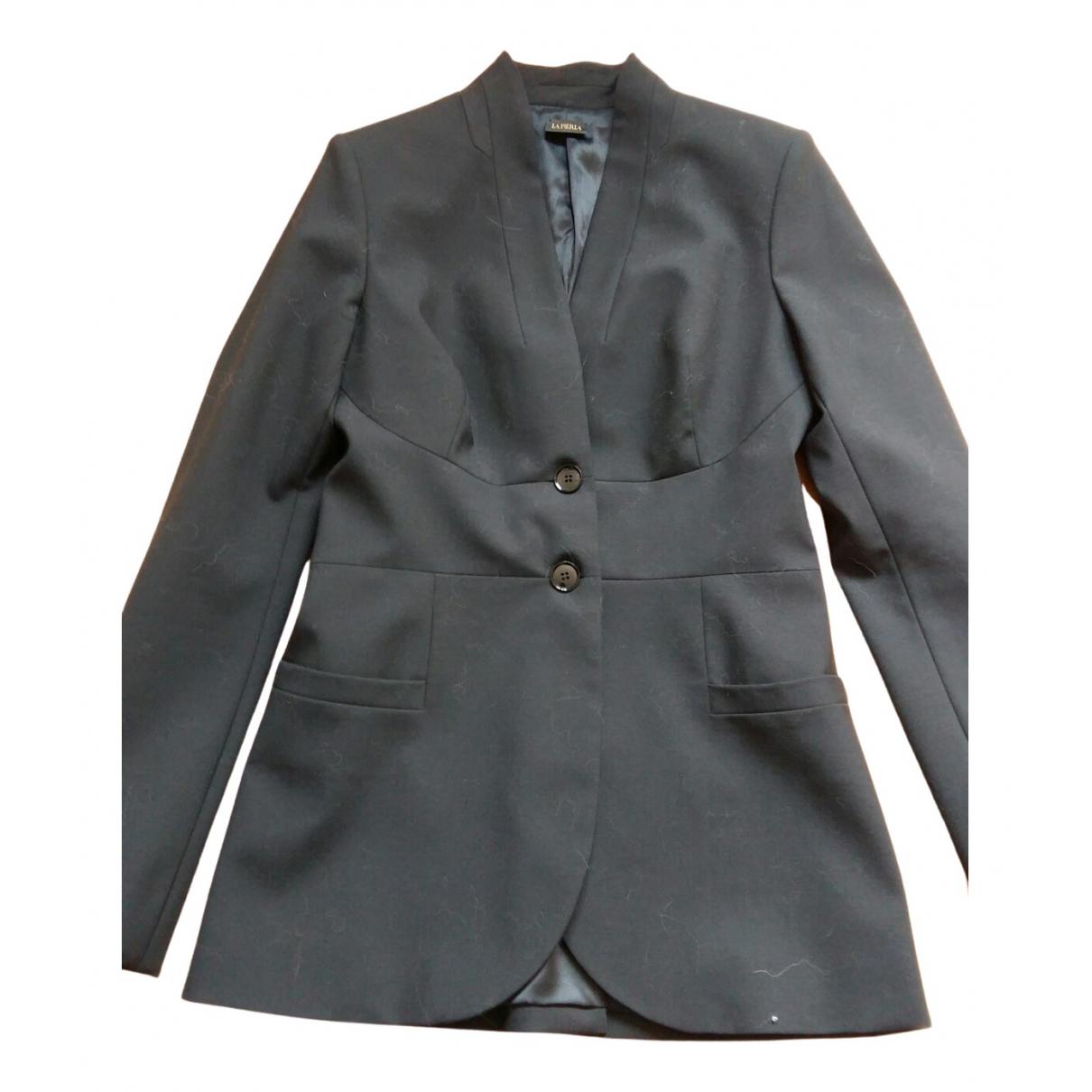 La Perla - Veste   pour femme en laine - noir