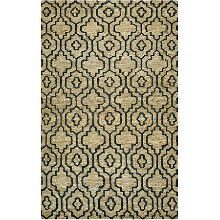 Rizzy Home Whittier Collection Arielle Geometric Rectangular Rugs, One Size , White