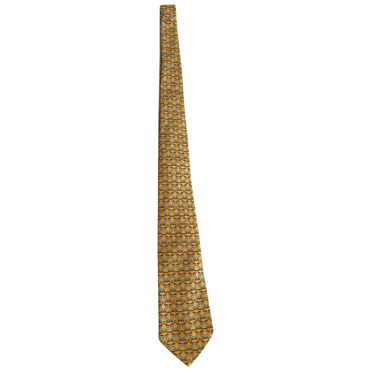 Chanel \N Yellow Silk scarf for Women \N