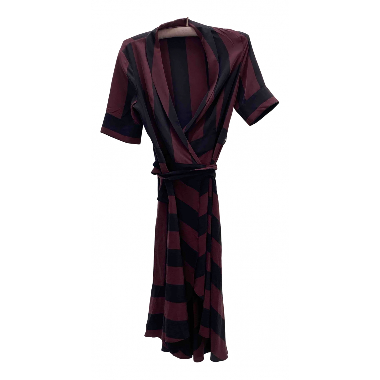 Vestido midi de Seda Ganni