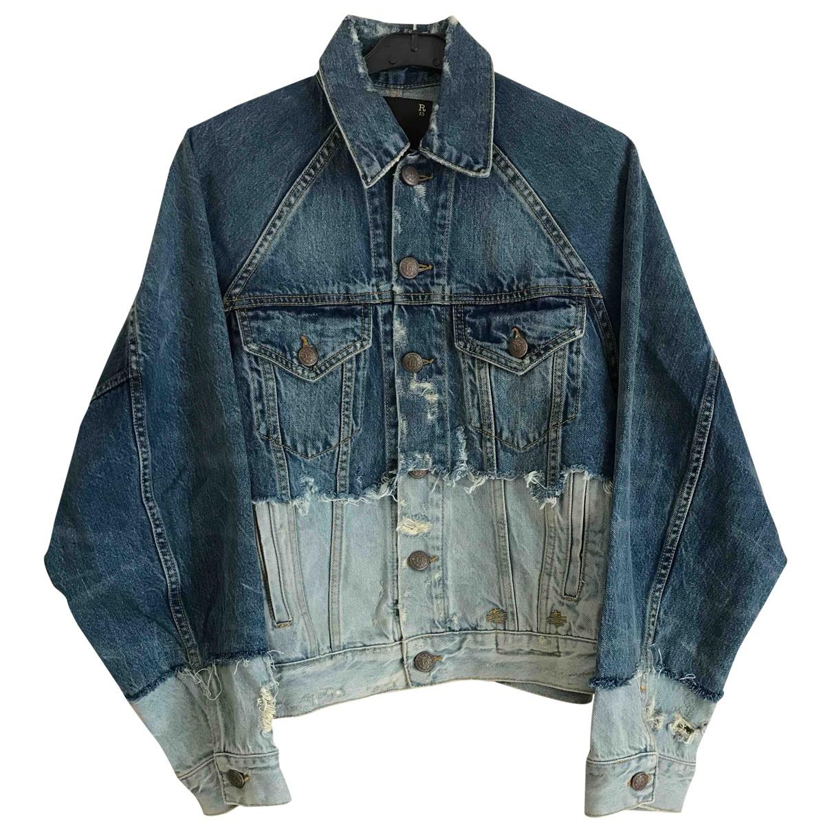 R13 \N Jacke in  Blau Denim - Jeans