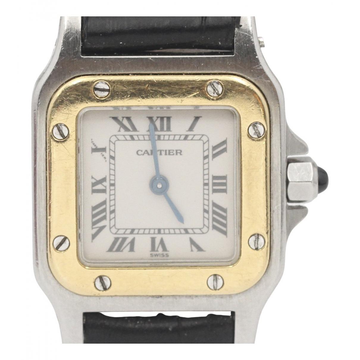 Cartier Santos Dumont  Uhr in  Silber Gold und Stahl