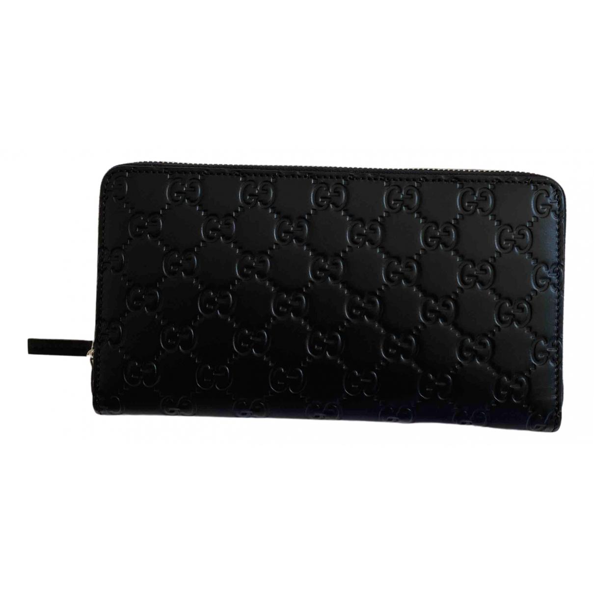 Gucci - Portefeuille Continental pour femme en cuir - noir