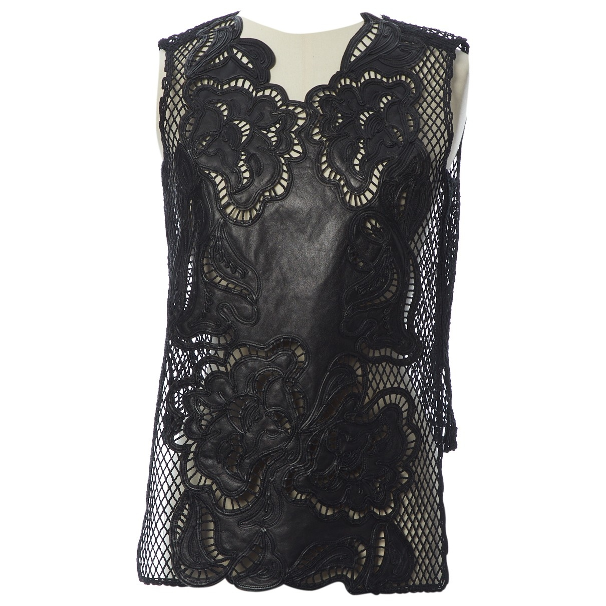 Ermanno Scervino \N Black Cotton  top for Women 40 IT