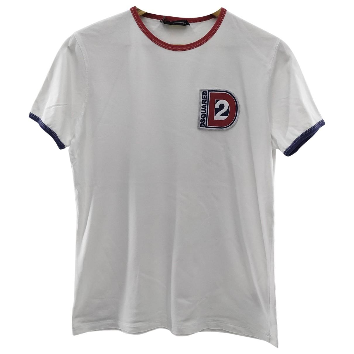 Dsquared2 \N White Cotton T-shirts for Men M