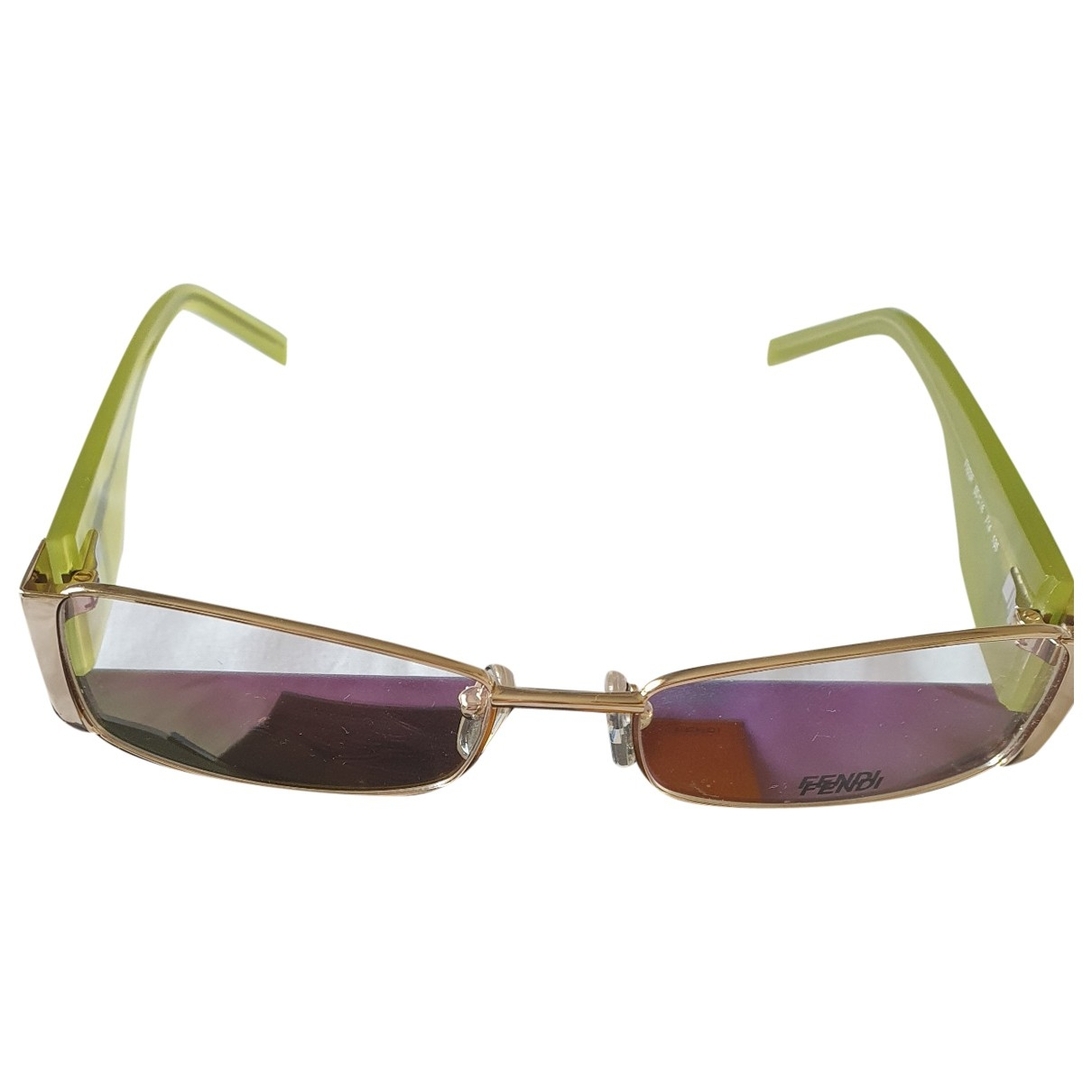 Fendi \N Sonnenbrillen in  Gruen Kunststoff