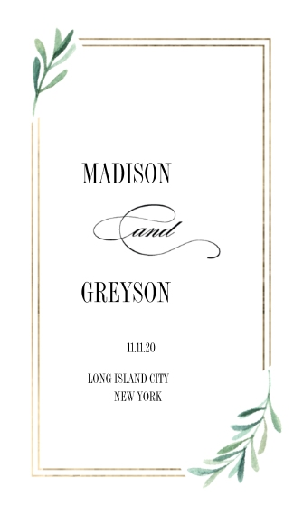 Matching Suites Business Cards, Set of 40, Rounded Corners, Card & Stationery -Wedding Favor Tag Simple Leaves by Tumbalina