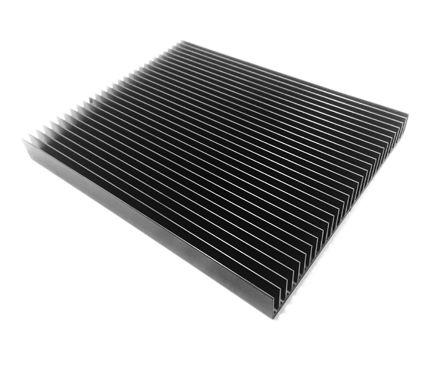 ABL Components Heatsink, Universal Rectangular Alu, 0.58K/W, 250 x 200 x 25mm, Black
