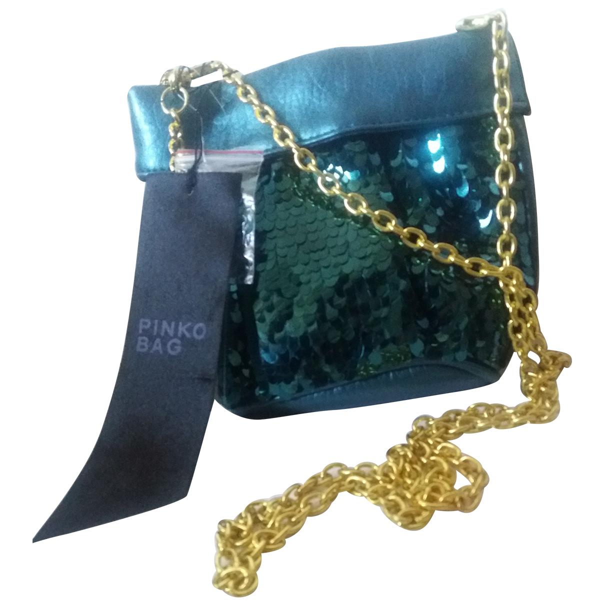 Pinko N Green Glitter Clutch bag for Women N