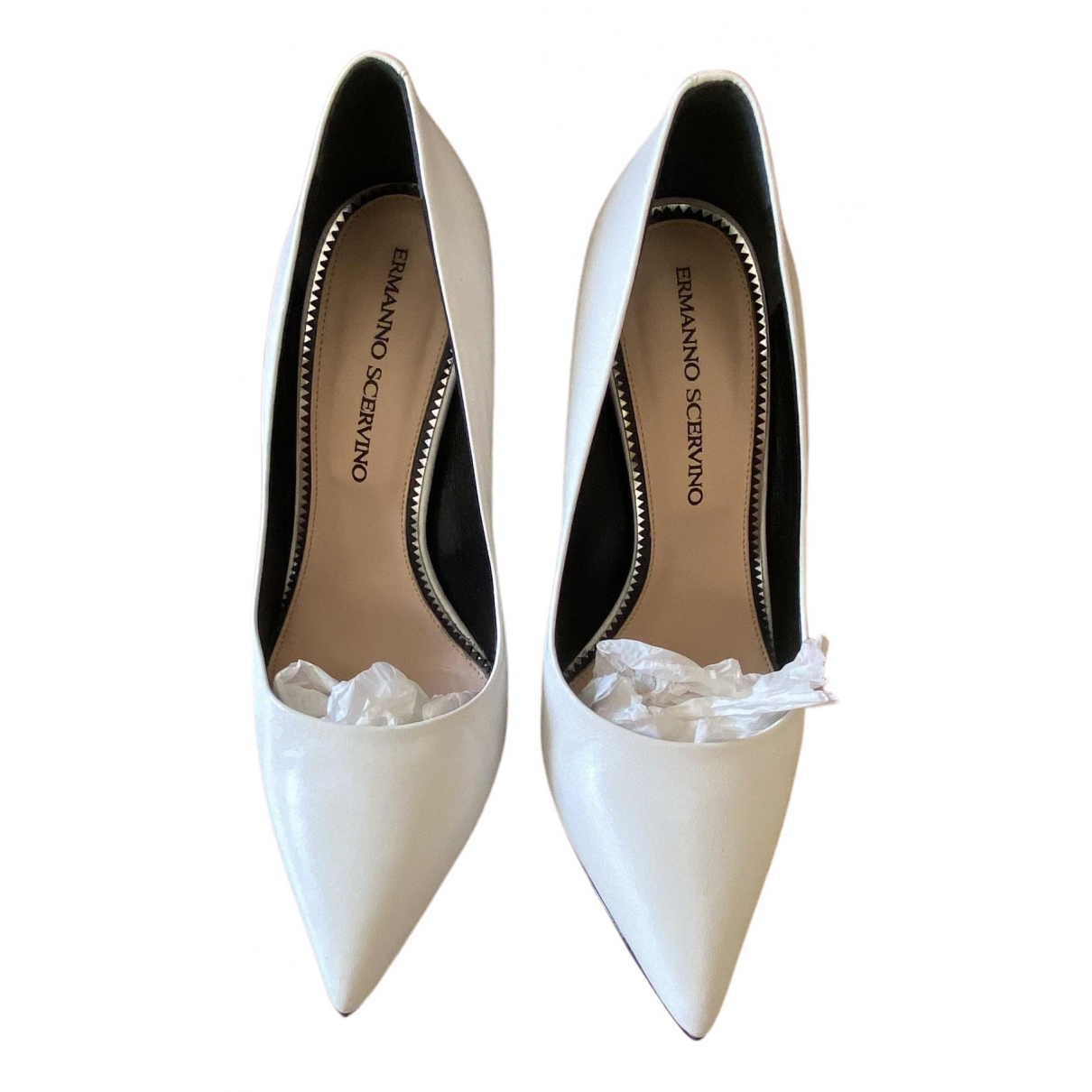 Ermanno Scervino \N White Leather Heels for Women 38 EU