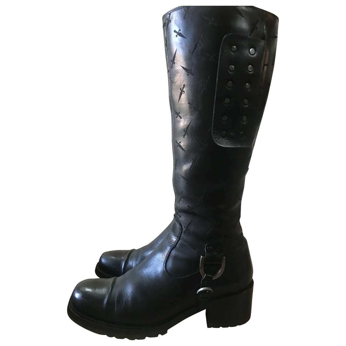 Cesare Paciotti \N Black Leather Boots for Women 38 EU