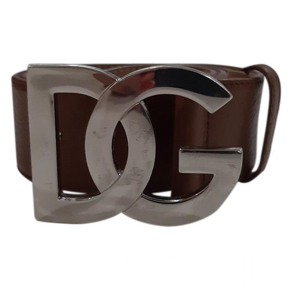 Dolce & Gabbana - Ceinture   pour femme en cuir - marron
