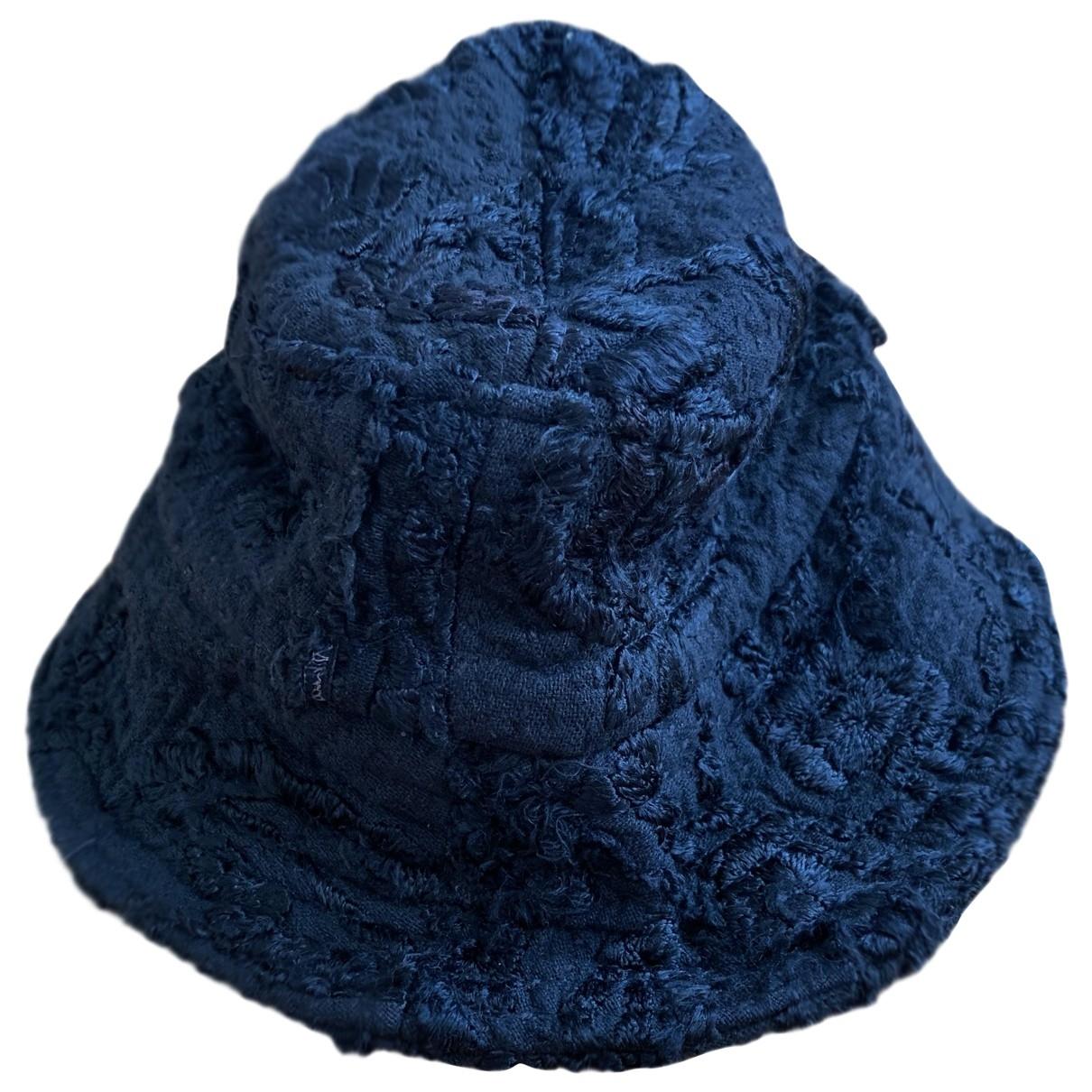 By Walid - Chapeau & Bonnets   pour homme en coton - noir