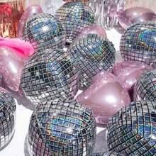 Disco Ballon 1 Stueck und Herze formiger Ballon 5 Stuecke