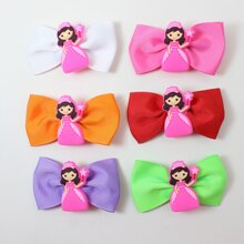 6pcs Baby Cartoon & Bow Decor Hair Clip