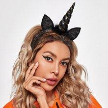 Haarreif mit Halloween Einhorn Dekor