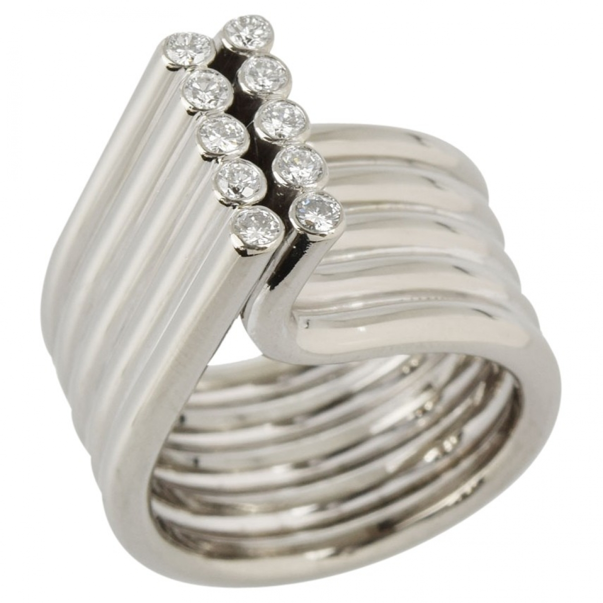 Mikimoto \N Ring in  Silber Weissgold
