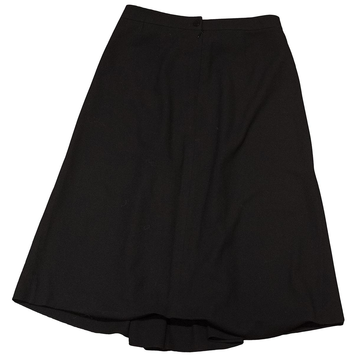 Hermès \N Black Wool skirt for Women 36 FR