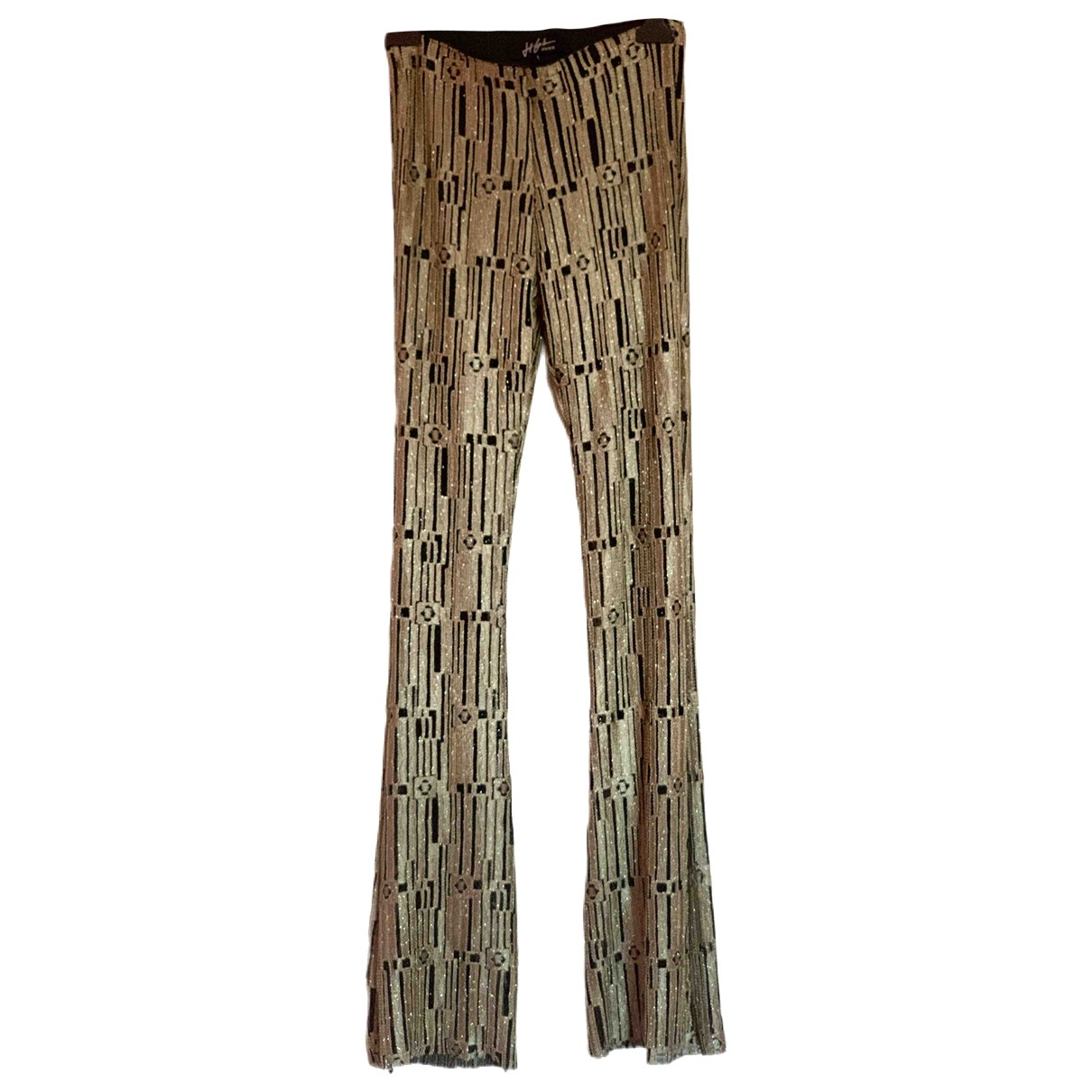 Non Signé / Unsigned \N Gold Trousers for Women 1 US