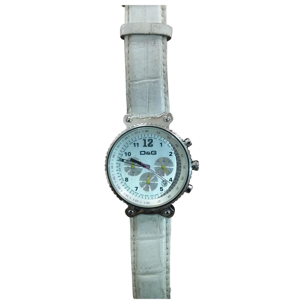 D&g \N Uhr in  Weiss Stahl