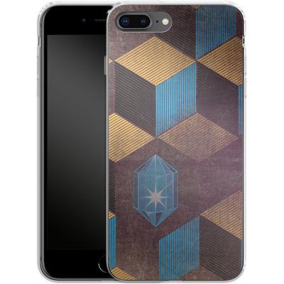 Apple iPhone 8 Plus Silikon Handyhuelle - Cubes Gems von Brent Williams