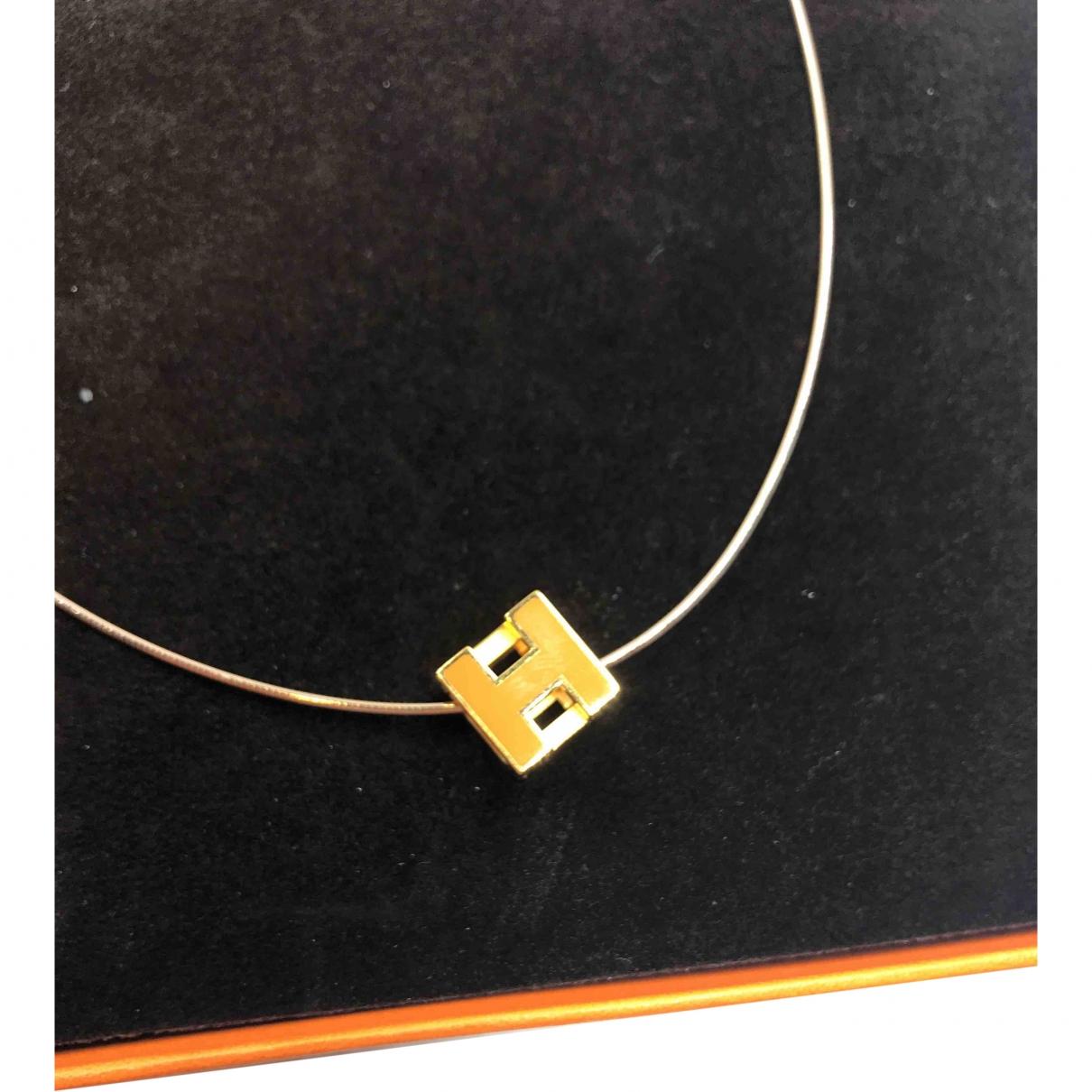 Hermès Cage d'H Gold Metal necklace for Women \N