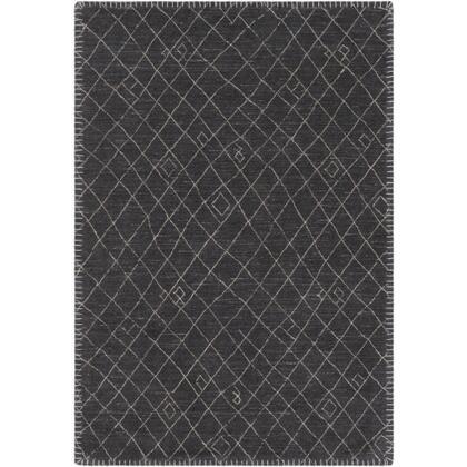 Arlequin ARQ-2301 8' x 10' Rectangle Global Rug in Black