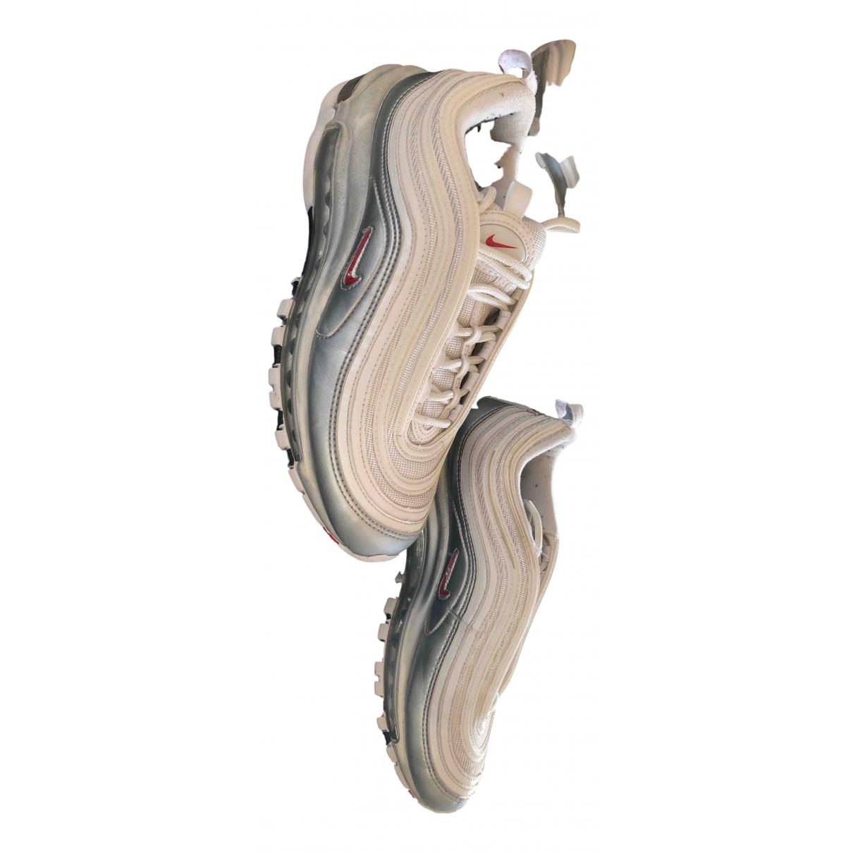 Nike - Baskets Air Max 97 pour femme en cuir verni - blanc