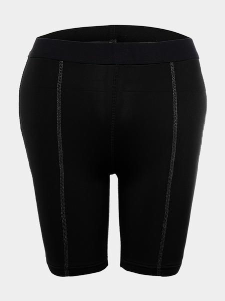 Yoins Black Professional Biker Shorts