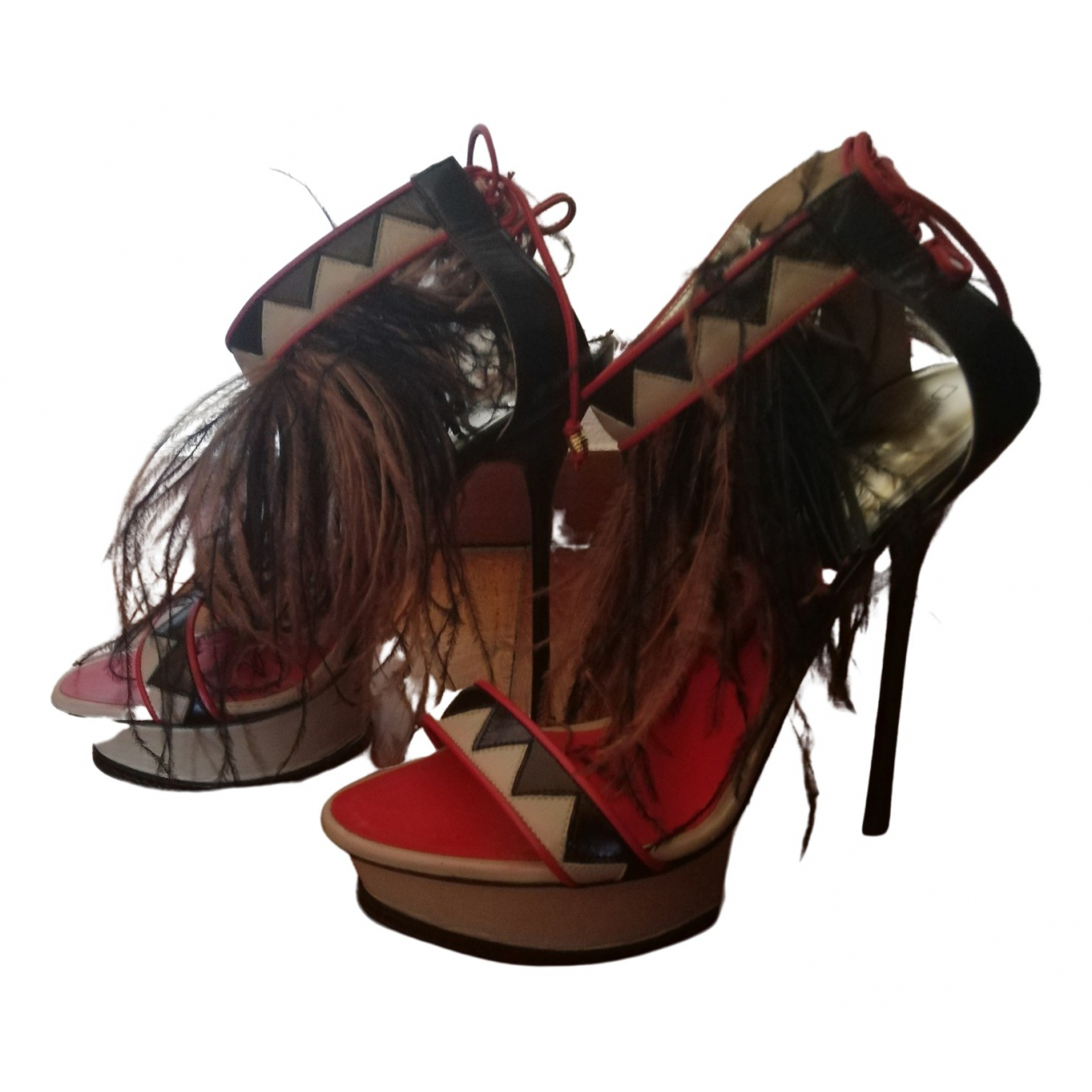 Dsquared2 \N Burgundy Leather Sandals for Women 39 EU