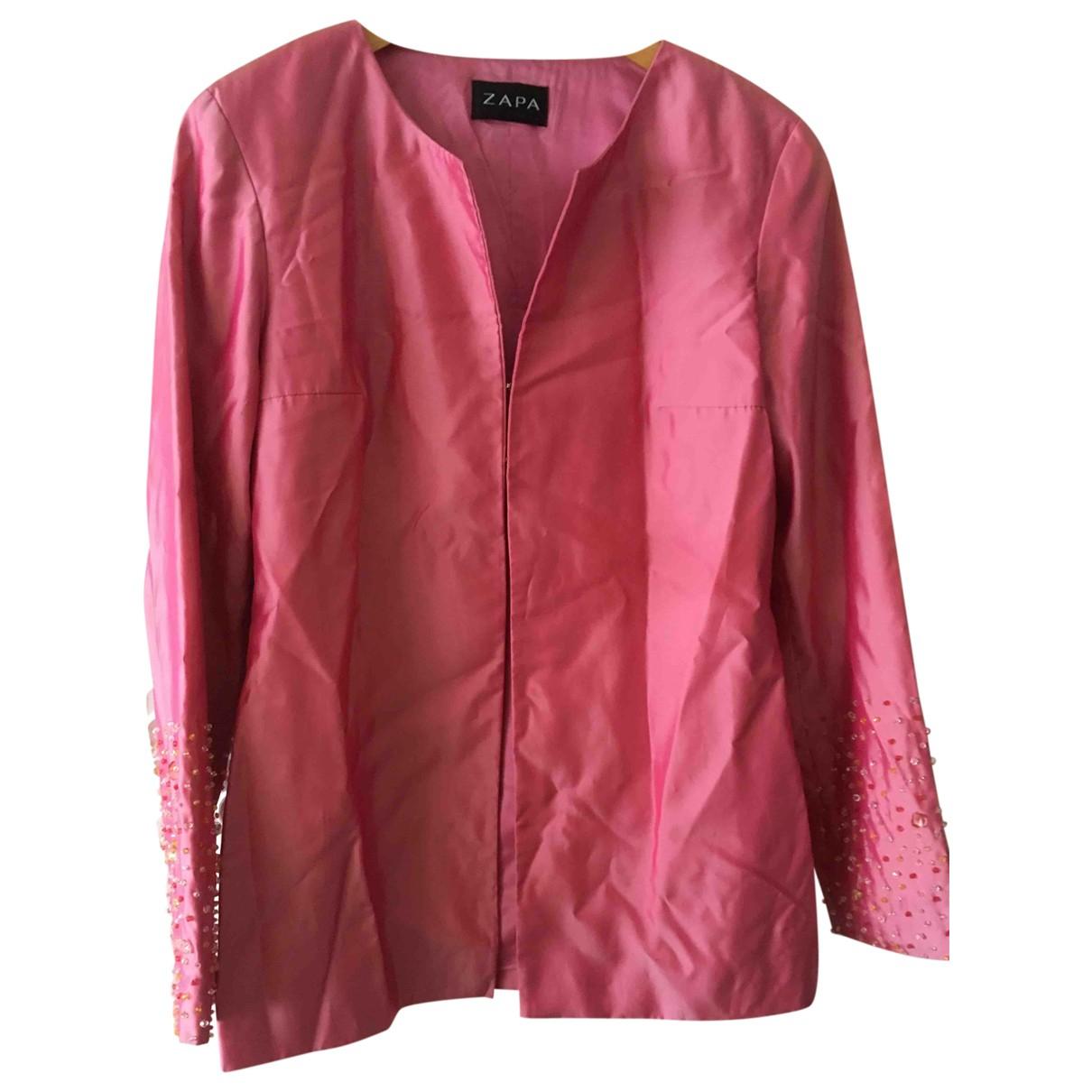 Zapa - Veste   pour femme en soie - rose