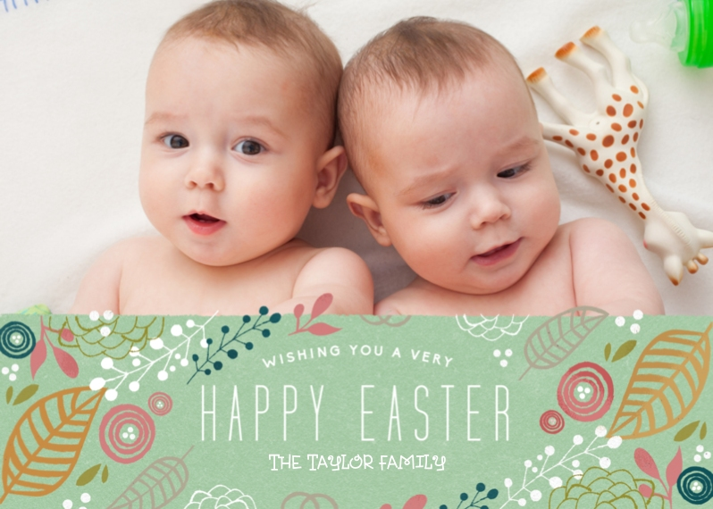Easter Cards 5x7 Folded Cards, Standard Cardstock 85lb, Card & Stationery -Very Happy Easter