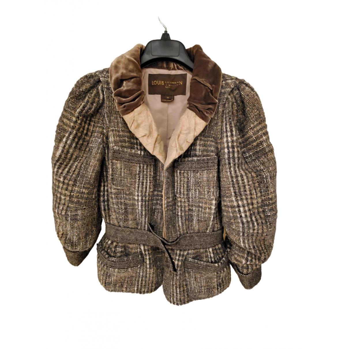 Louis Vuitton \N Brown Wool jacket for Women 36 FR