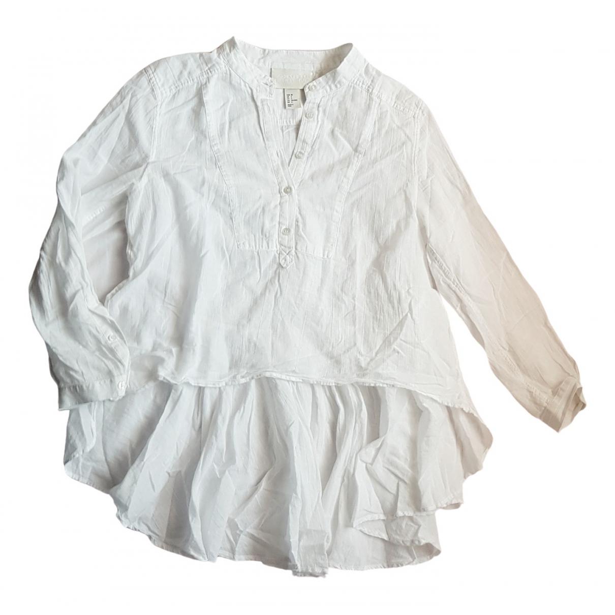 Hm Conscious Exclusive - Top   pour femme en coton - blanc