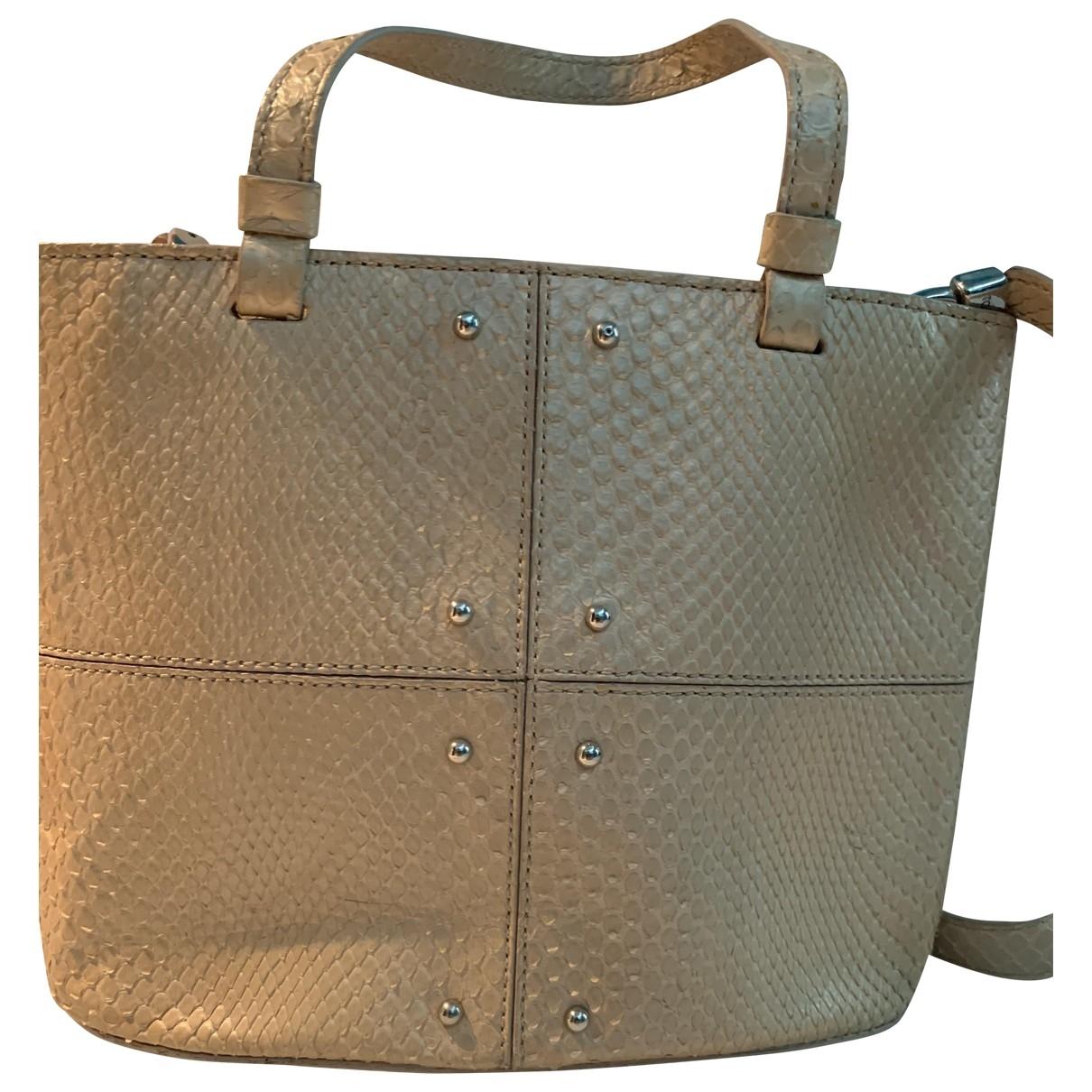 Tods \N Handtasche in  Beige Python