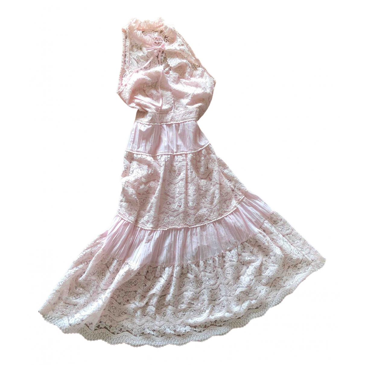 Temperley London \N Kleid in  Rosa Baumwolle