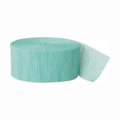 Party Streamer Party Decorations Crepe Paper 81 ft - Seafoam Aqua