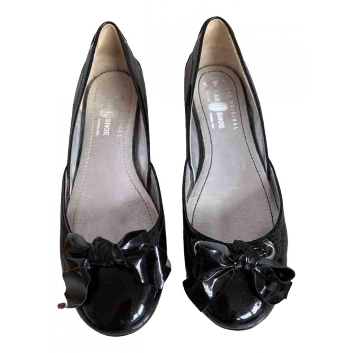 Carshoe \N Black Patent leather Ballet flats for Women 38.5 EU