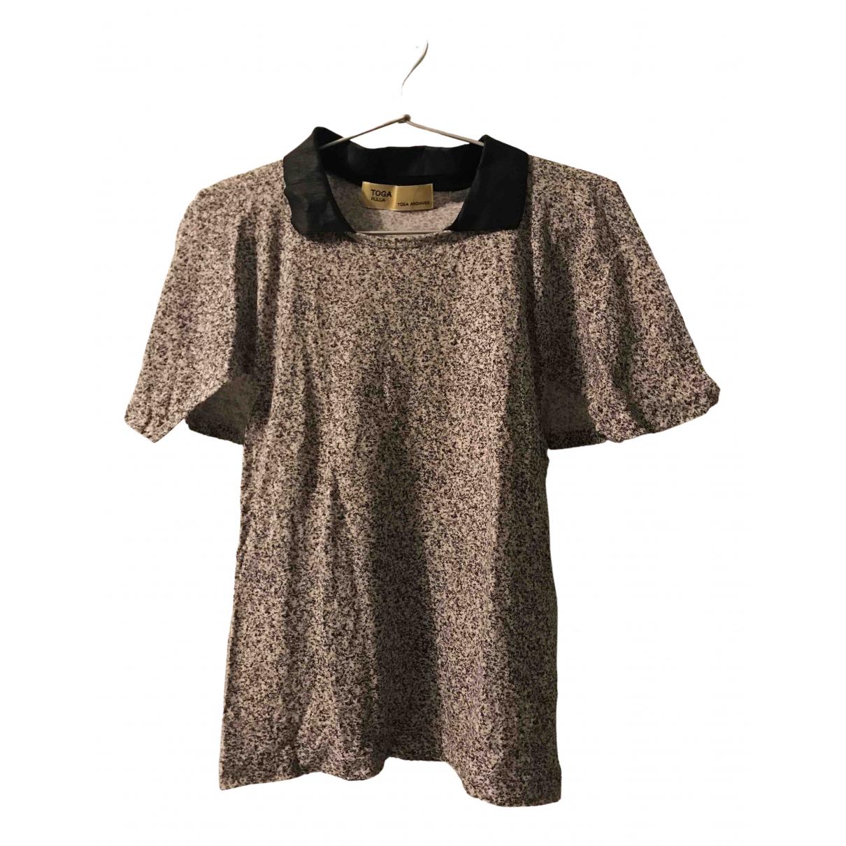 Toga Pulla - Top   pour femme en coton - gris