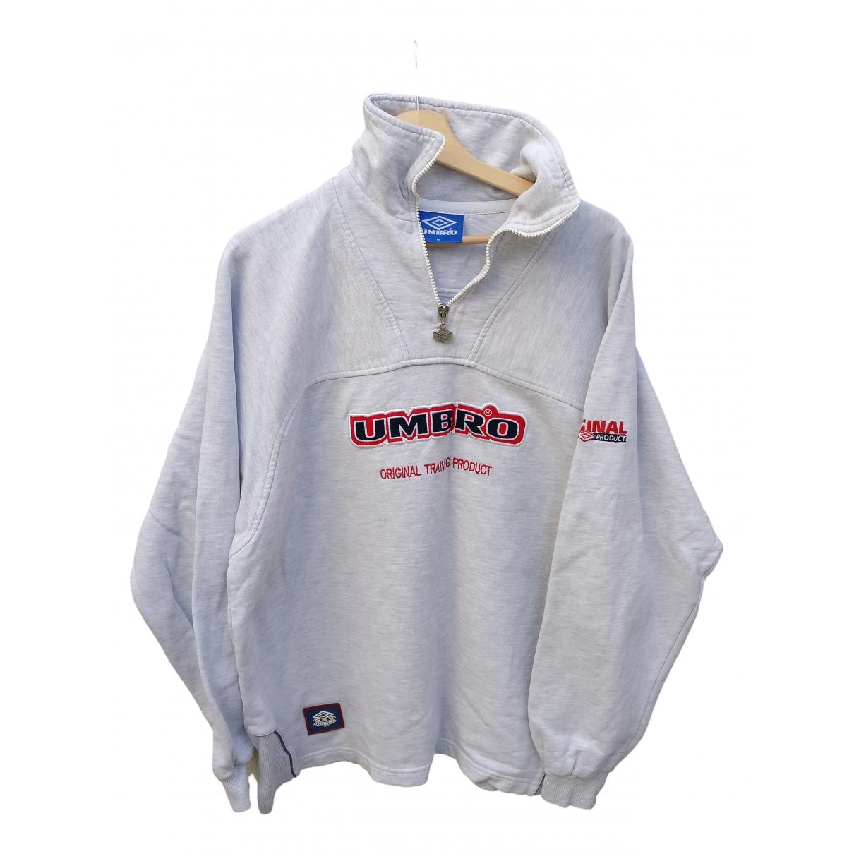 Umbro \N Pullover.Westen.Sweatshirts  in  Grau Baumwolle