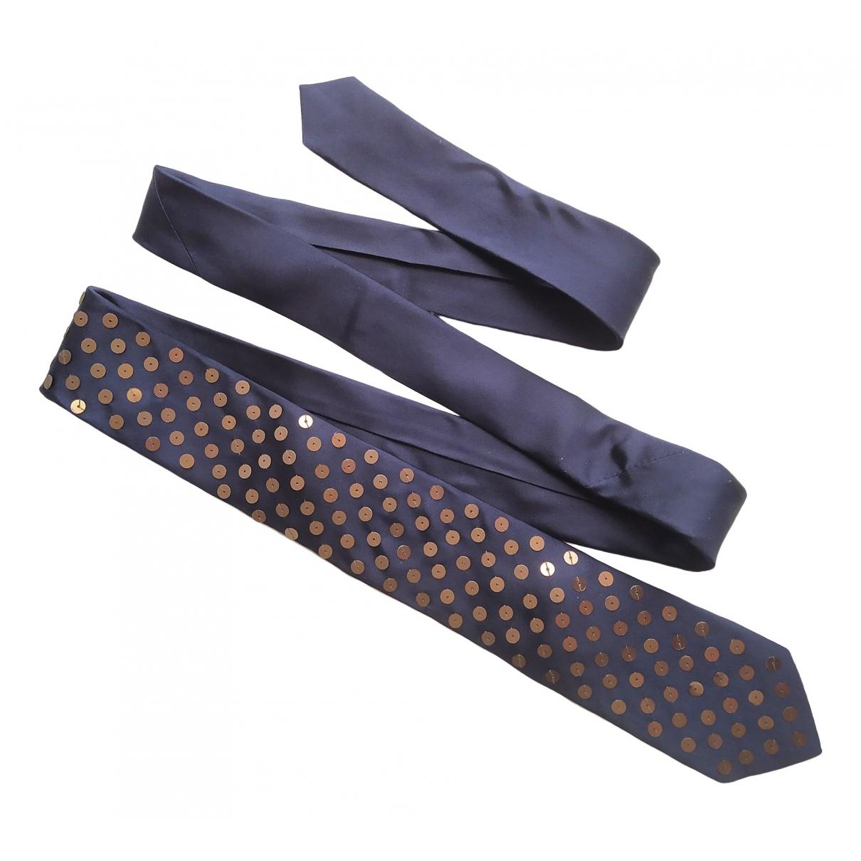 Lanvin For H&m - Cravates   pour homme en soie - marine