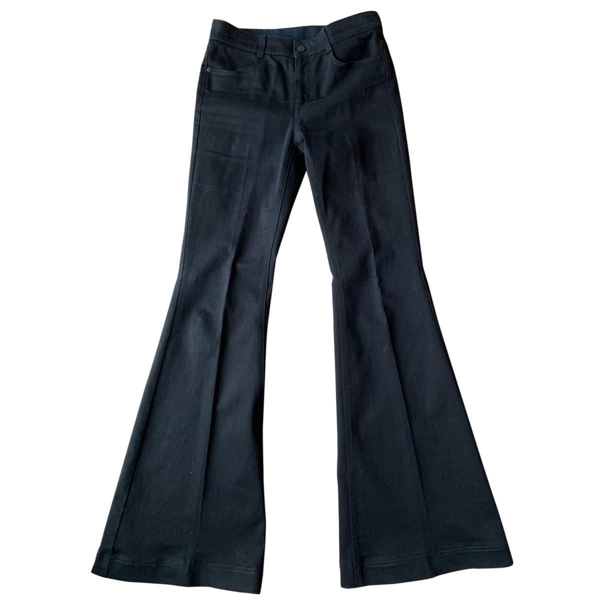 Stella Mccartney \N Black Cotton - elasthane Jeans for Women 28 US